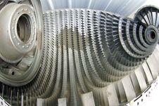 Free Fish-eye View Of Internal Jet Engine Cu Royalty Free Stock Photo - 4721685