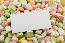 Free Business Card On Dinner Mints Royalty Free Stock Photo - 4722205