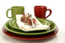 Free Green And RedTableware Stock Photography - 4722652