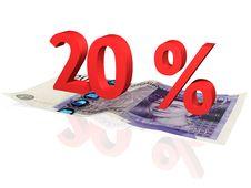 20  Percentage Stock Photo