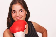 Free Sporty Smiling Boxing Girl Royalty Free Stock Image - 4722866