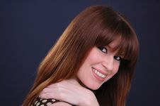 Cute Smiling Young Lady Royalty Free Stock Photo
