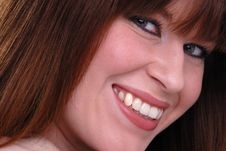 Cute Smiling Young Lady Royalty Free Stock Images