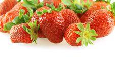 Free Fresh Bright Juicy Strawberry Over White Royalty Free Stock Photos - 4723108