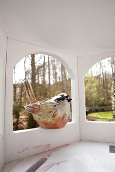 Free Bird House From Inside. Stock Photography - 4723112