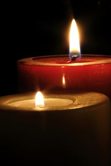 Free Two Candles Royalty Free Stock Image - 4724546