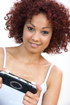 Free Young Woman With A Play Station Stock Images - 4724564