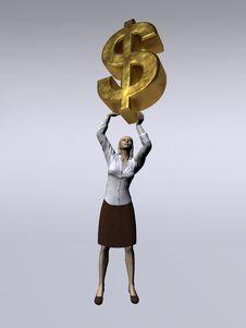 Free Lift The Money Stock Photography - 4725562