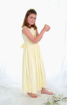 Free Young Girl With Yellow Chick Royalty Free Stock Photo - 4726075