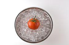 Free Tomato On Ice Stock Image - 4726441