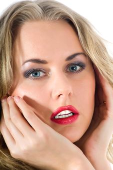 Free Portrait Of The Blonde With Blue Eye Royalty Free Stock Image - 4726606
