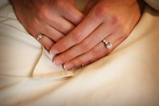 Free Brides Hands In Her Lap Royalty Free Stock Image - 4726636