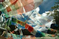 Free Tibetan Religion Supplies - Wind Horse S Banner Royalty Free Stock Photos - 4728278