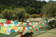 Free Tibetan Religion Supplies - Wind Horse S Banner Stock Photography - 4728292