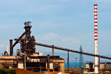 Free Power Plant In Piombino , Italy. Royalty Free Stock Image - 4728536