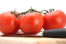 Free Tomatoes UpClose Stock Image - 4729031
