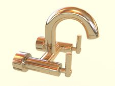 Golden Tap Royalty Free Stock Images