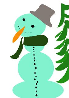 Free Snowman Royalty Free Stock Photography - 4729787