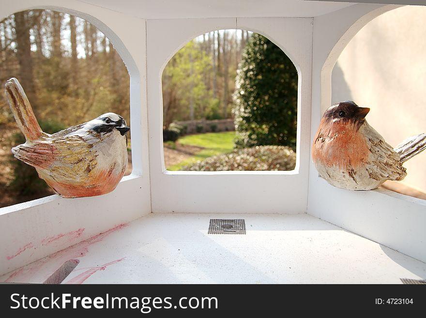 Bird house from inside.