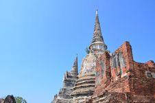 Free Wat Phra SiSanphet Ayuthaya,Thailand Stock Photo - 47298320