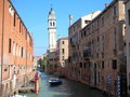 Free Canal With Falling Bell Tower Royalty Free Stock Images - 4732409