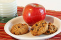 Free Apple, Cookies And Milk Royalty Free Stock Photo - 4733425
