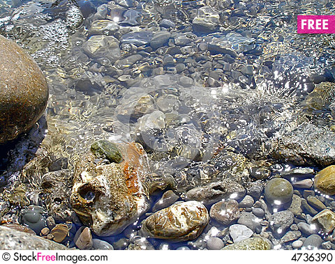 Sea water, pebble Stock Photo