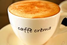 Free Cappuccino Sprinkled With Cinnamon Sugar Stock Photo - 4730060