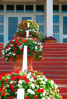 Free Flowers Handrail Royalty Free Stock Image - 4730346