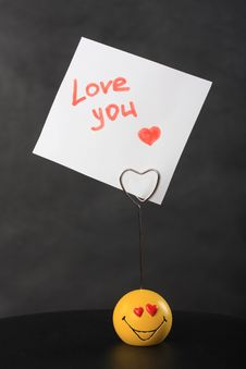 Holder For The Love Messages Stock Photography
