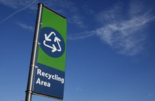 Free Recycling Area Sign Stock Image - 4732921