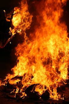 Free Burning Falla In Valencia. Fire. Stock Photos - 4732943