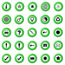 Free Green Web Buttons Royalty Free Stock Photography - 4733207