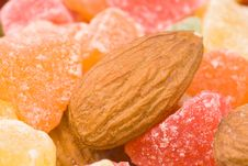 Assorted Dried Fruits And Nuts Stock Photo