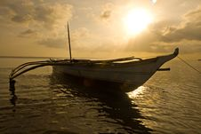 Free Banca Boat At Sun Set Stock Photography - 4734262