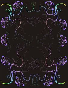 Free Purple Butterfly Background Royalty Free Stock Photo - 4734275