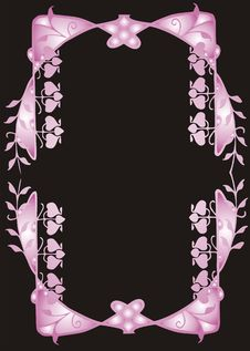 Free Pink Floral Frame Stock Photo - 4734280