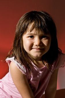 Free Young Girl Looking Content Stock Photo - 4734370