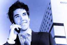 Free Businessman On Phone Royalty Free Stock Photography - 4734497