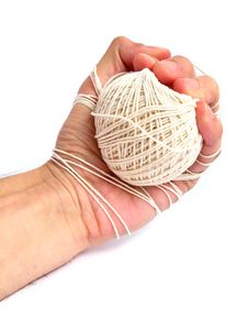Free Hand Tied With Thread Stock Image - 4735041