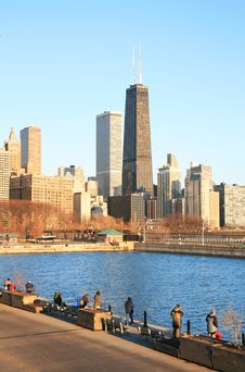 Free The High-rise Buildings In Chicago Stock Image - 4735051