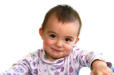 Free One Year Old Baby Girl Stock Photo - 4735230