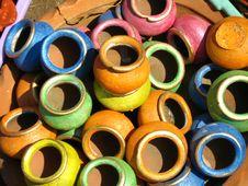 Free Coloured Pots Stock Image - 4735301