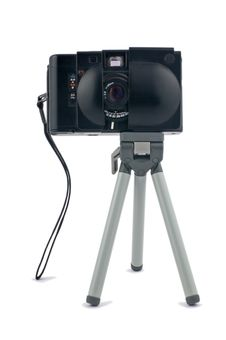 Mini Tripod With Camera Royalty Free Stock Image