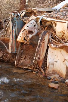 Car Wreckage Stock Photography