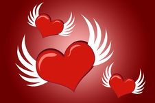 Free Flying Hearts Stock Images - 4737284