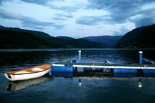 Free Boat In The Fjord Stock Images - 4737314