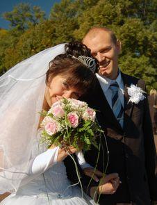 Free Newly Wedded Couple Stock Image - 4738521