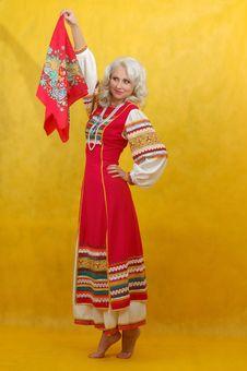 Free Russian Woman In A Folk Dress Stock Image - 4738971