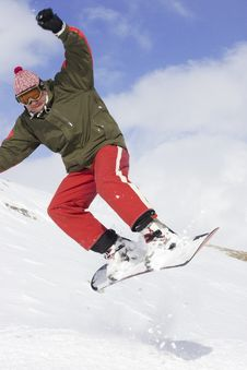Free Snowboarder Royalty Free Stock Photography - 4739207